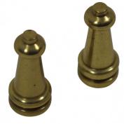 Brass Stair Carpet Rod Ball Finial Towel Tip Pair | Renovator's Supply