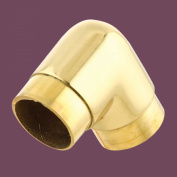 Tubing Connectors Pol Brass Elbow 90 Degree Fit 3.8cm Tube