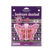Butterfly Bedroom Doorbell girls kids children toy room battery operated door bell Multi-Coloured