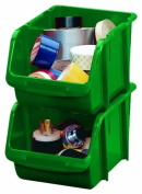 Stack-On BIN-1510 Medium Parts Storage Organiser Bin, Green