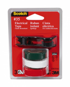 Scotch 03835-BA-12 Vinyl Electrical Tape with Dispenser, No.35, Green/White/...
