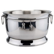 Old Dutch Ice Buckets and Tubs 14.2l Stainless Steel Double-Walled Party Tub with Tie Knot 1109