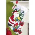 Santa's Mailbox Stocking Felt Applique Kit18in Long
