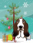 Christmas Tree and Basset Hound Flag Garden Size BB1615GF