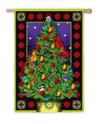 Luxe Christmas Tree Vertical Flag