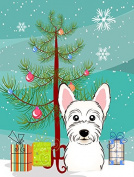 Christmas Tree and Westie Flag Garden Size BB1598GF