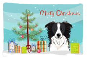 Christmas Tree and Border Collie Fabric Standard Pillowcase BB1613PILLOWCASE