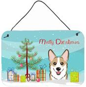 Christmas Tree and Sable Corgi Wall or Door Hanging Prints BB1625DS812