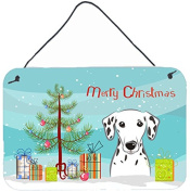 Christmas Tree and Dalmatian Wall or Door Hanging Prints BB1582DS812