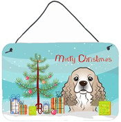 Christmas Tree and Cocker Spaniel Wall or Door Hanging Prints BB1588DS812
