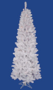 1.7m Pre-Lit Crystal White Upside Down Artificial Christmas Tree - Warm White LED Lights