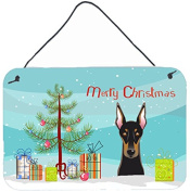 Christmas Tree and Doberman Wall or Door Hanging Prints BB1617DS812