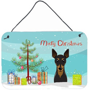 Christmas Tree and Min Pin Wall or Door Hanging Prints BB1612DS812