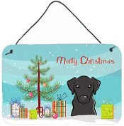 Christmas Tree and Black Labrador Wall or Door Hanging Prints BB1607DS812