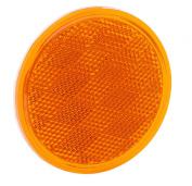 Bargman 70-38-020 Reflector - Bulk - 8.1cm - Round - Adhesive Mount - Amber