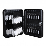 48 Keys Portable Solid Steel Safe Case & Tags Storage Cabinet Lock Box Home Store Dorm Office Shop
