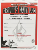 2-In-1 Driver's Daily Log Book with Detailed DVIR Carbonless