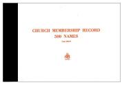 Form-Church Membership Record