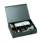 MMF Industries Low Profile Steel Cash Box, Grey