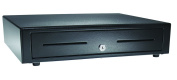 APG VB320-BL1915 Vasario Series Standard-Duty Painted-Front Cash Drawer with MultiPRO 320 Interface, 24V, 48cm x 11cm x 39cm , Black