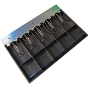 APG Cash Drawers Fixed bill and coin area, Wire bill hold-downs, 5 Bill x 5 Coin, Fits VB1915 cash drawers VPK-15B-3-BX