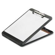 Skilcraft Lightweight Portable Storage Clipboard - 0.50 Capacity - 8.50 X 11 - Polypropylene - Black