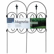 Origin Point 060323 Magnolia Classic Decorative Steel Landscape Border Fence Section