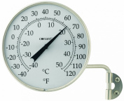 CONANT T6SN Vermont Dial Thermometer, Satin Nickel