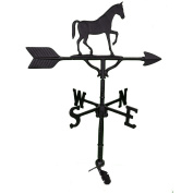 Montague Metal Products 80cm Weathervane with Satin Black Gaited Horse Ornament