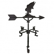 Montague Metal Products 80cm Weathervane with Satin Black Bass Ornament