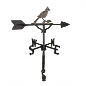 Montague Metal Products 80cm Weathervane with Swedish Iron Cardinal Ornament