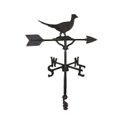 Montague Metal Products 80cm Weathervane with Satin Black Pheasant Ornament