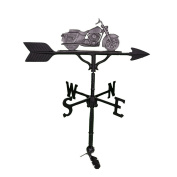 Montague Metal Products 80cm Weathervane with Swedish Iron Motorcycle Ornament