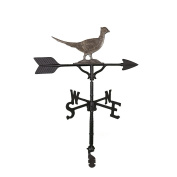 Montague Metal Products 80cm Weathervane with Swedish Iron Pheasant Ornament