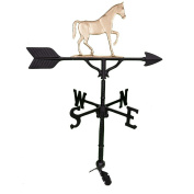 Montague Metal Products 80cm Weathervane with Gold Gaited Horse Ornament