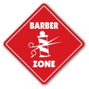 BARBER ZONE Sign xing gift novelty trim hair cut shave barber shop fade