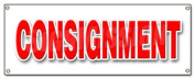 CONSIGNMENT BANNER SIGN second hand name brands clothes furniture store