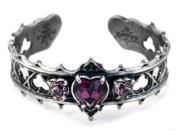 Alchemy Gothic Gothic Elizabethan Crystal Heart Pewter Bracelet