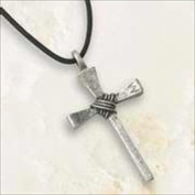 Bob Siemon Designs 818766 Necklace Cross Nail Stylized With 80cm . Adjustable Cord