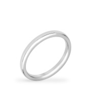 2 mm Stainless Steel Wedding Band Size 5