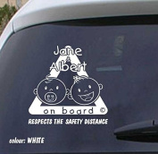 Baby on board vinyl sticker VPCE15