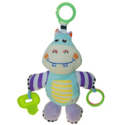 Lovely Baby Kids Music Toys Animal Musical Rope Plush Toys Rope Drawstring - Hippo