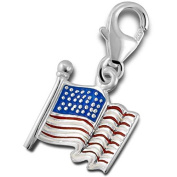 Solid Rock Jewellery 121080 Charm-Silver Flag