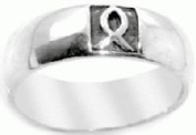 Christian Unisex Stainless Steel Abstinence Veritcal Carved Ichthus Jesus Fish Chastity Ring - Guys Purity Ring, Girls Purity Ring