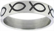 Solid Rock Jewellery 769067 Ring Ichthus Fish Stainless Style 319 Size 6