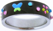 Colour Change Butterfly Ring in Stainless Steel