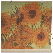 Oriental Furniture Sunflowers Bamboo Blinds -