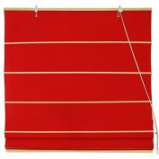 Oriental Furniture Cotton Roman Shades - Red -