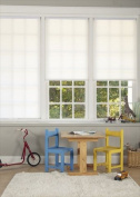 DEZ Furnishing QDWT220720 Cordless Pleated Light Filtering Shade, White - 22 W x 72 L in.