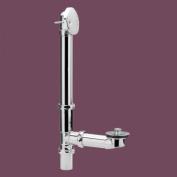 Tub Drain Overflow Chrome Exposed Pipe Lift/Turn Drain | Renovator's Supply